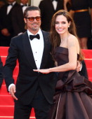Angelina Jolie and Brad Pitt attend the 'The Tree Of Life' premiere during the 64th Annual Cannes Film Festival at Palais des Festivals on May 16...