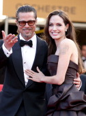Angelina Jolie and Brad Pitt attend 'The Tree Of Life' premiere during the 64th Annual Cannes Film Festival at Palais des Festivals on May 16 2011 in...