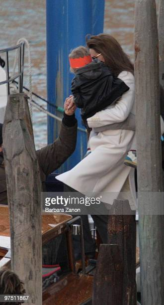 Angelina Jolie and daugther Shiloh are seen on March 7 2010 in Venice Italy