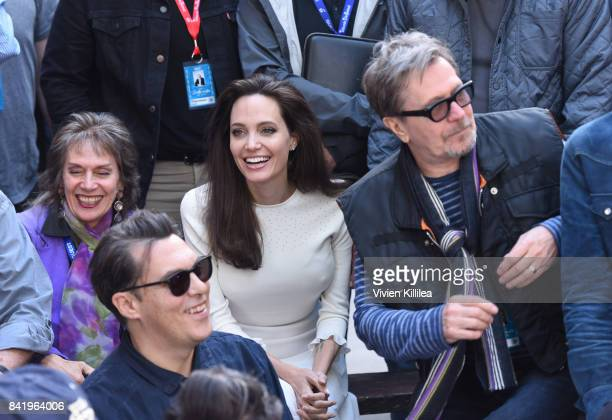 Angelina Jolie and Gary Oldman attend the Telluride Film Festival 2017 on September 2 2017 in Telluride Colorado