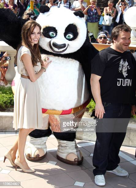 Angelina Jolie and Jack Black attend the 'Kung Fu Panda II' Photocall during the 64th Cannes Film Festival at the Carlton Hotel at Palais des...