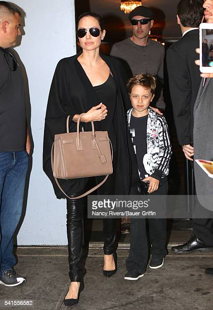 Angelina Jolie and Knox JoliePitt are seen on June 19 2016 in New York City