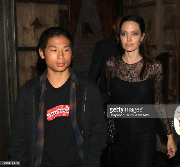 Angelina Jolie and Pax JoliePitt are seen on May 14 2017 in Los Angeles CA
