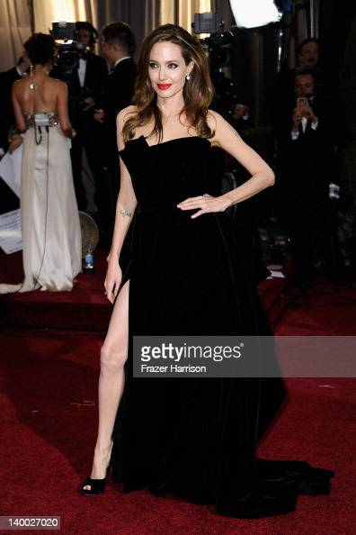 Angelina Jolie arrives at the 84th Annual Academy Awards held at the Hollywood Highland Center on February 26 2012 in Hollywood California