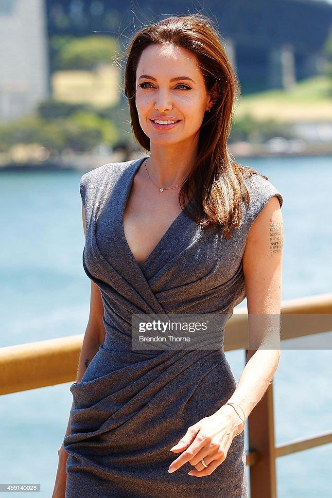 Angelina Jolie arrives at the photo call of Unbroken at Sydney Opera House on November 18, 2014 in Sydney, Australia.