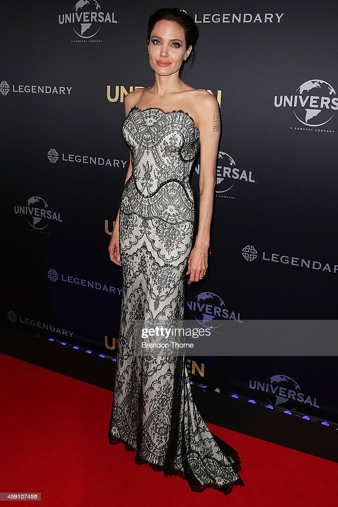 <a gi-track='captionPersonalityLinkClicked' href=/galleries/search?phrase=Angelina+Jolie&family=editorial&specificpeople=201591 ng-click='$event.stopPropagation()'>Angelina Jolie</a> arrives at the world premiere of Unbroken at the State Theatre on November 17, 2014 in Sydney, Australia.