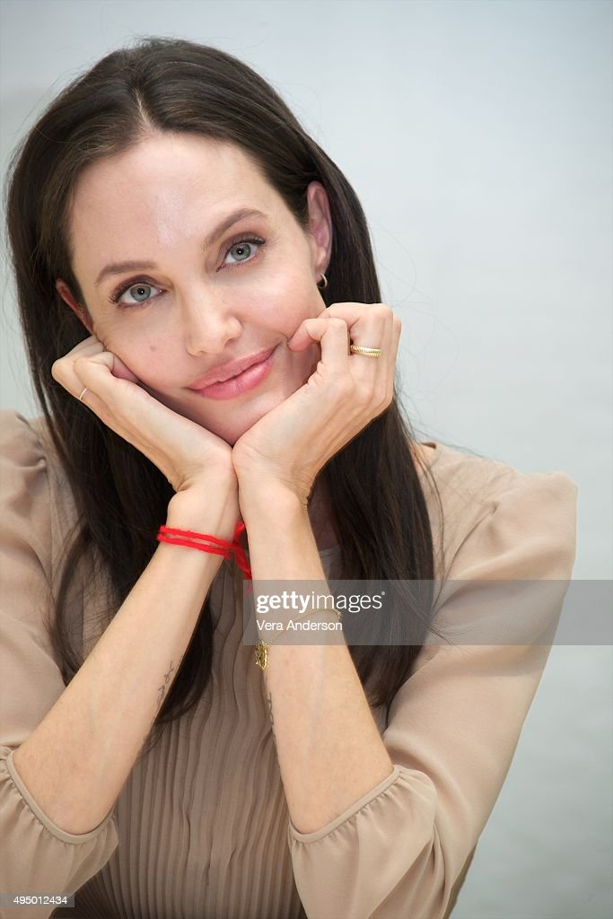 Angelina Jolie at the 'By The Sea' Press Conference at the Four Seasons Hotel on October 30, 2015 in Beverly Hills, California.