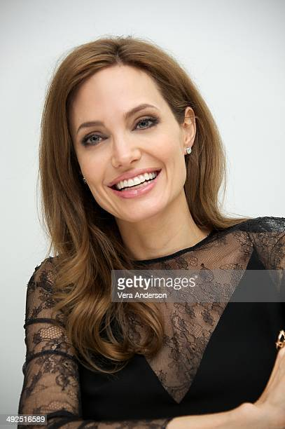 Angelina Jolie at the 'Maleficent' Press Conference at the Four Seasons Hotel on May 20 2014 in Beverly Hills California