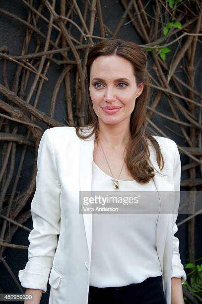 Angelina Jolie at the 'Unbroken' Press Conference at Universal Studios Hollywood on July 29 2014 in Universal City California