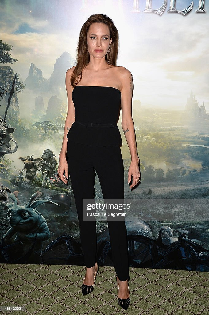 <a gi-track='captionPersonalityLinkClicked' href=/galleries/search?phrase=Angelina+Jolie&family=editorial&specificpeople=201591 ng-click='$event.stopPropagation()'>Angelina Jolie</a> attends a photo call for the film 'Maleficent' at Hotel Bristol on May 6, 2014 in Paris, France.