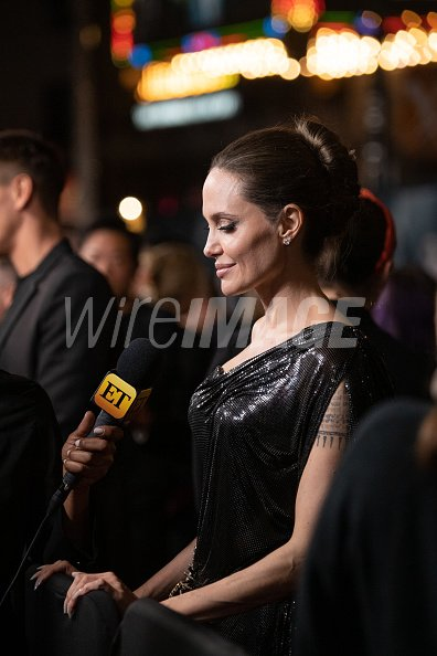 Angelina Jolie Attends Disneys Maleficent Mistress Of Evil