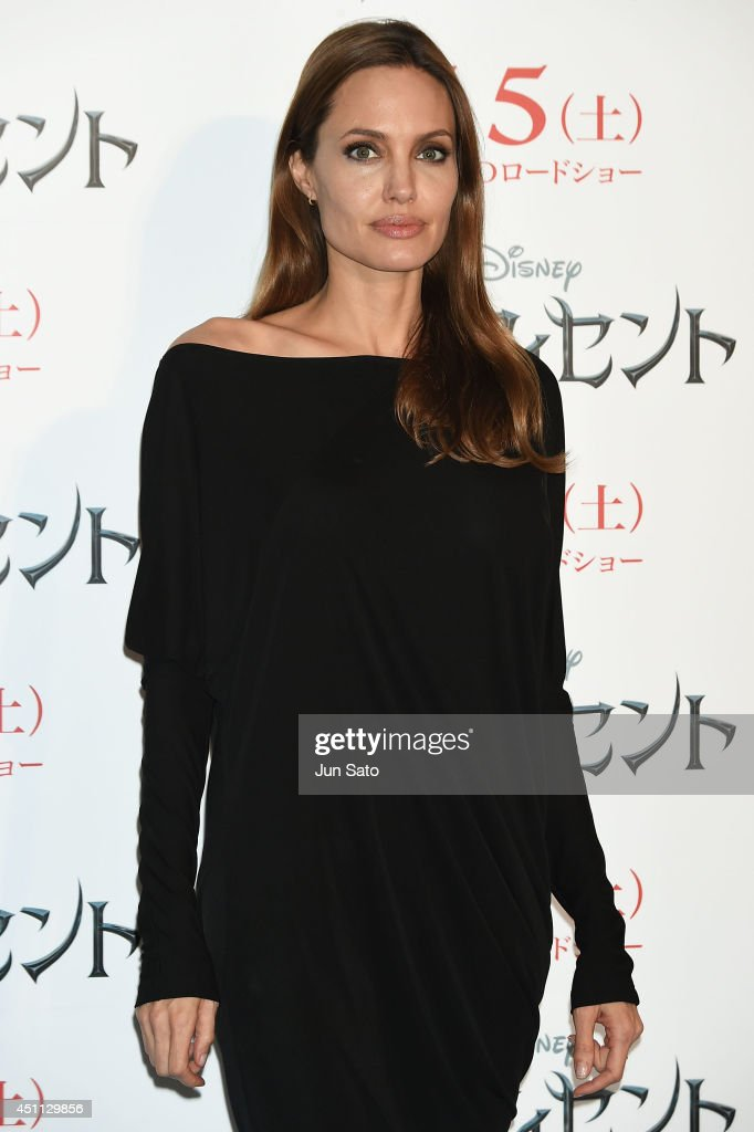 <a gi-track='captionPersonalityLinkClicked' href=/galleries/search?phrase=Angelina+Jolie&family=editorial&specificpeople=201591 ng-click='$event.stopPropagation()'>Angelina Jolie</a> attends 'Maleficent' press conference for Japan premiere at Grand Hyatt Tokyo on June 24, 2014 in Tokyo, Japan.