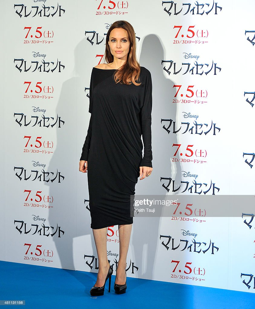<a gi-track='captionPersonalityLinkClicked' href=/galleries/search?phrase=Angelina+Jolie&family=editorial&specificpeople=201591 ng-click='$event.stopPropagation()'>Angelina Jolie</a> attends 'Maleficent' press conference for the Japan premiere at Grand Hyatt Tokyo on June 24, 2014 in Tokyo, Japan.