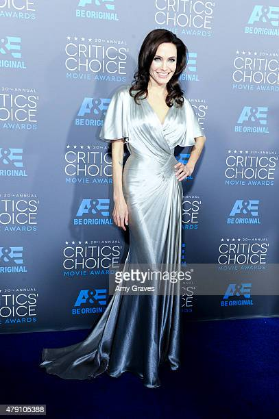 Angelina Jolie attends the 20th Annual Critics' Choice Movie Awards on January 15 2015 in Los Angeles California