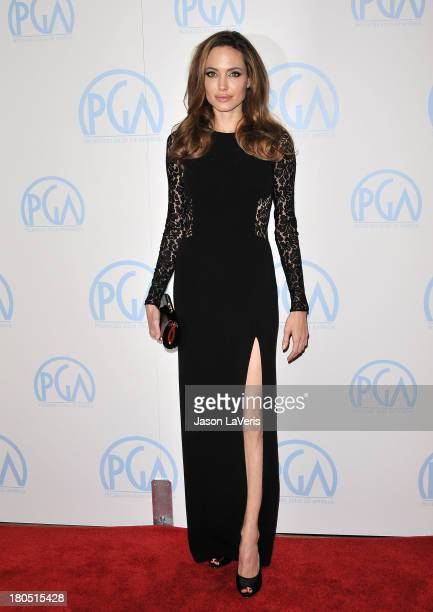 Angelina Jolie attends the 23rd annual Producers Guild Awards at The Beverly Hilton hotel on January 21 2012 in Beverly Hills California