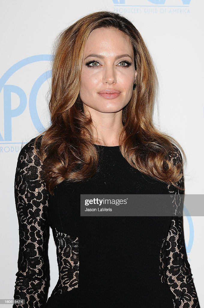 Angelina Jolie attends the 23rd annual Producers Guild Awards at The Beverly Hilton hotel on January 21, 2012 in Beverly Hills, California.