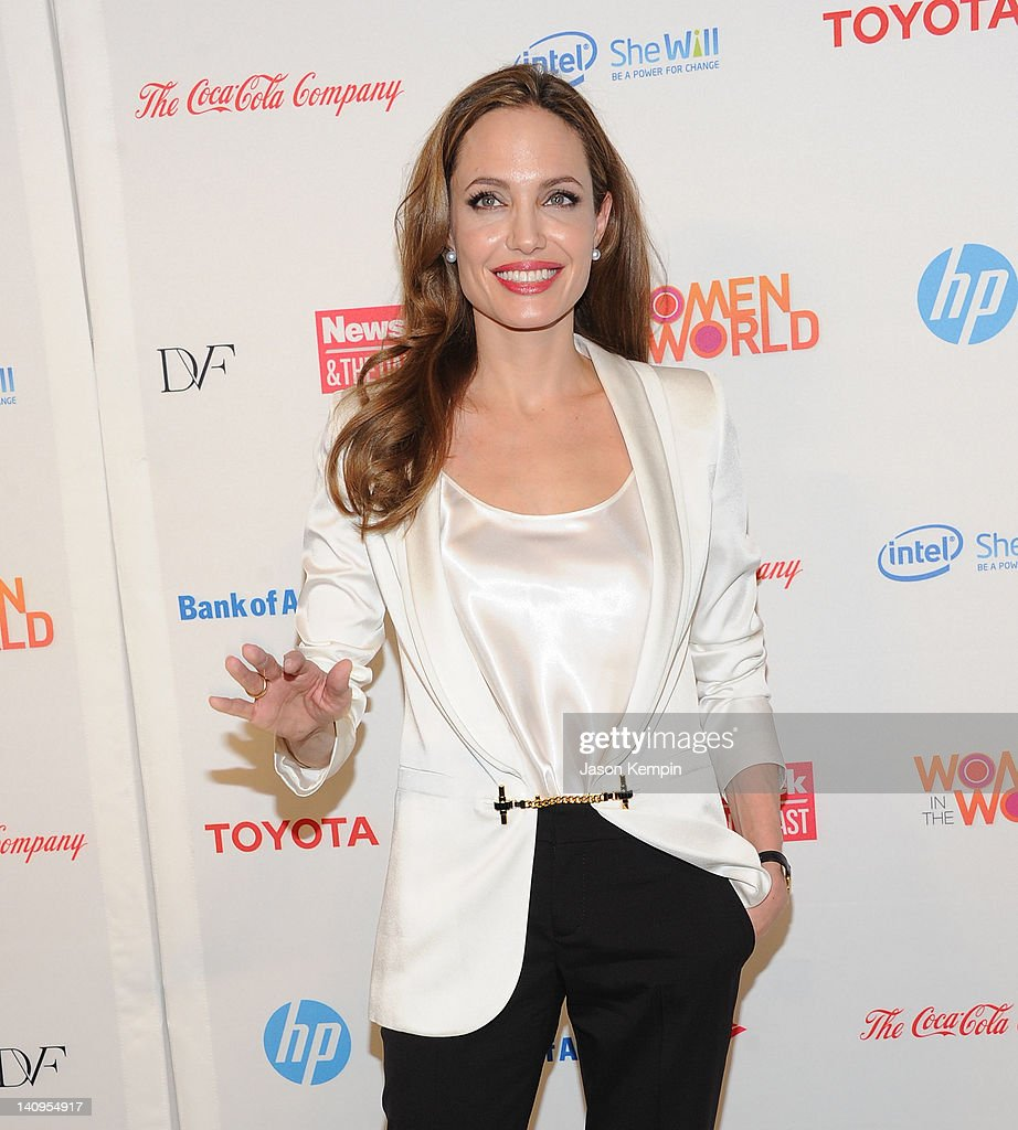<a gi-track='captionPersonalityLinkClicked' href=/galleries/search?phrase=Angelina+Jolie&family=editorial&specificpeople=201591 ng-click='$event.stopPropagation()'>Angelina Jolie</a> attends the 3rd Annual Women in the World Summit at David H. Koch Theater, Lincoln Center on March 8, 2012 in New York City.