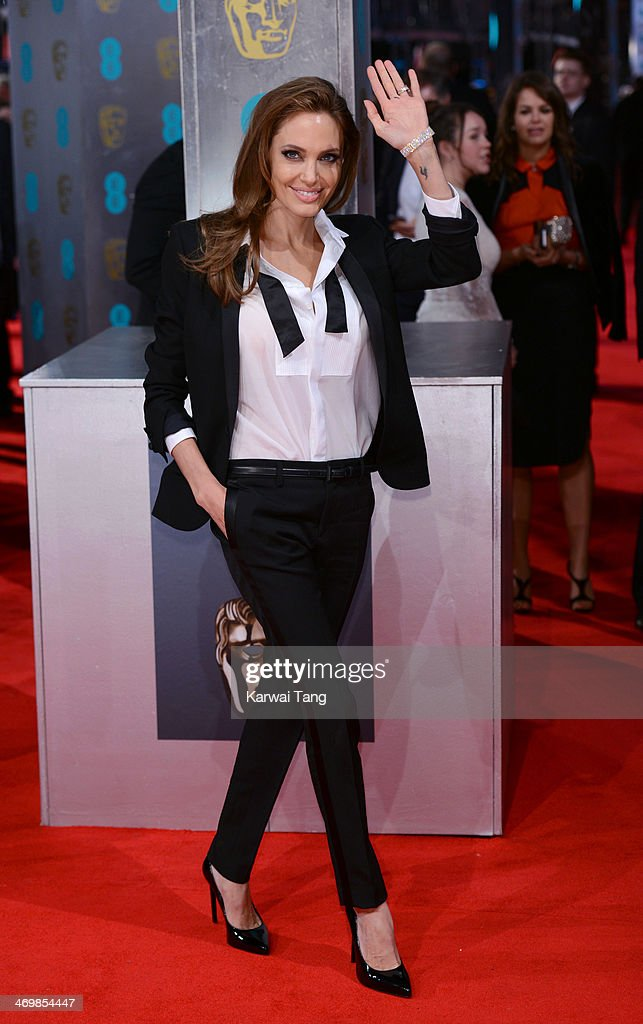<a gi-track='captionPersonalityLinkClicked' href=/galleries/search?phrase=Angelina+Jolie&family=editorial&specificpeople=201591 ng-click='$event.stopPropagation()'>Angelina Jolie</a> attends the EE British Academy Film Awards 2014 at The Royal Opera House on February 16, 2014 in London, England.