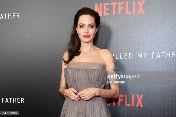 Angelina Jolie attends the 'First They Killed My Father' New York premiere at DGA Theater on September 14 2017 in New York City