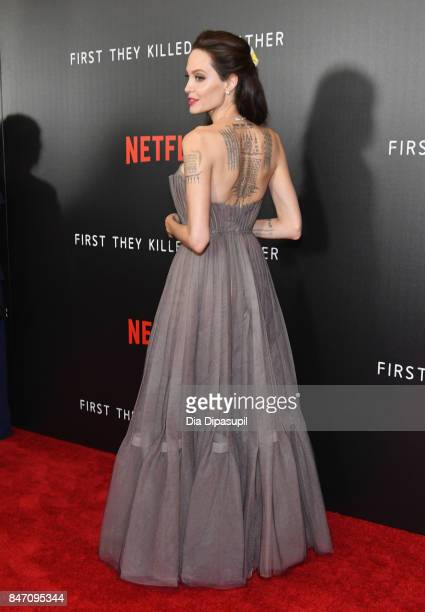 Angelina Jolie attends the 'First They Killed My Father' New York Premiere on September 14 2017 in New York City