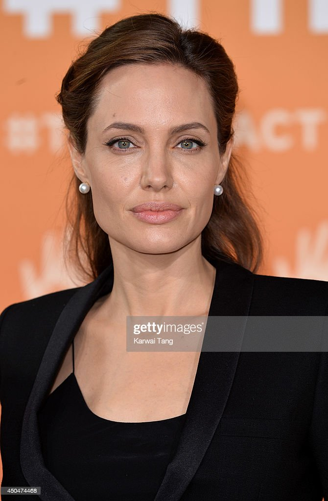 <a gi-track='captionPersonalityLinkClicked' href=/galleries/search?phrase=Angelina+Jolie&family=editorial&specificpeople=201591 ng-click='$event.stopPropagation()'>Angelina Jolie</a> attends the Global Summit to end Sexual Violence in Conflict at ExCel on June 12, 2014 in London, England.