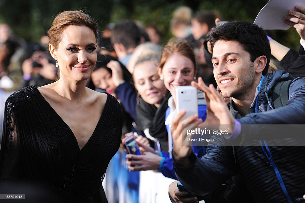 Angelina Jolie attends the 'Maleficent' Costume And Props Private Reception at Kensington Palace on May 8, 2014 in London, England.