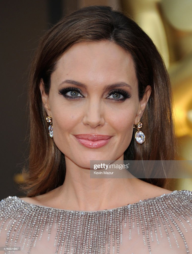 <a gi-track='captionPersonalityLinkClicked' href=/galleries/search?phrase=Angelina+Jolie&family=editorial&specificpeople=201591 ng-click='$event.stopPropagation()'>Angelina Jolie</a> attends the Oscars held at Hollywood & Highland Center on March 2, 2014 in Hollywood, California.