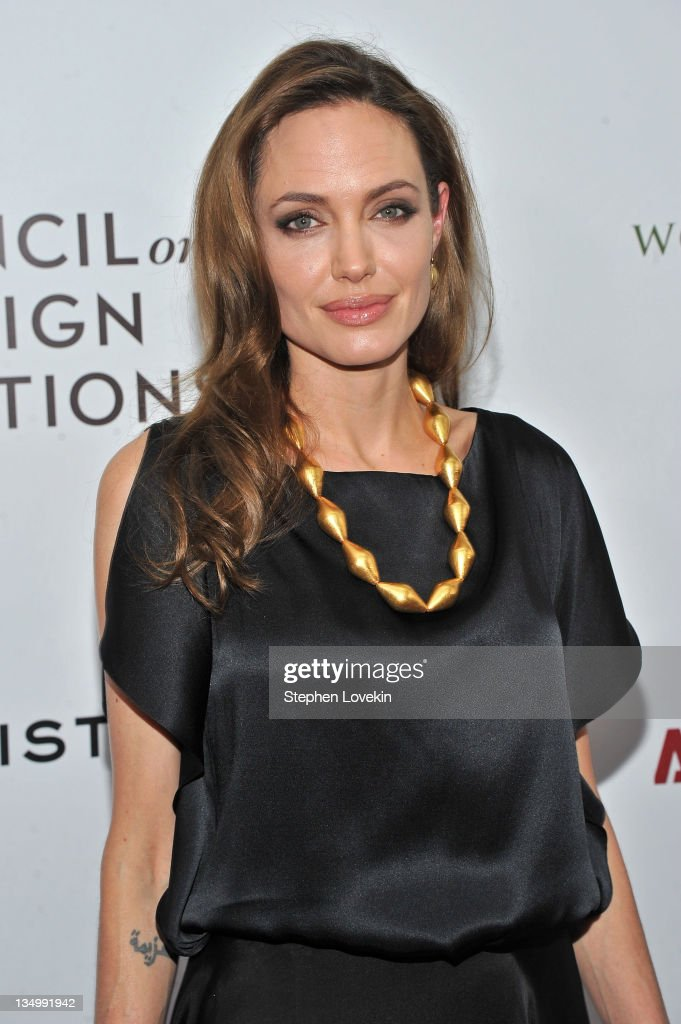 <a gi-track='captionPersonalityLinkClicked' href=/galleries/search?phrase=Angelina+Jolie&family=editorial&specificpeople=201591 ng-click='$event.stopPropagation()'>Angelina Jolie</a> attends the premiere of 'In the Land of Blood and Honey' at the School of Visual Arts on December 5, 2011 in New York City.