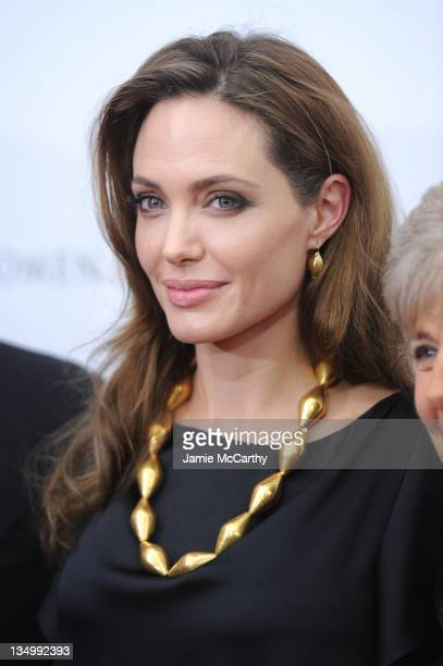 Angelina Jolie attends the premiere of 'In the Land of Blood and Honey' at the School of Visual Arts on December 5 2011 in New York City
