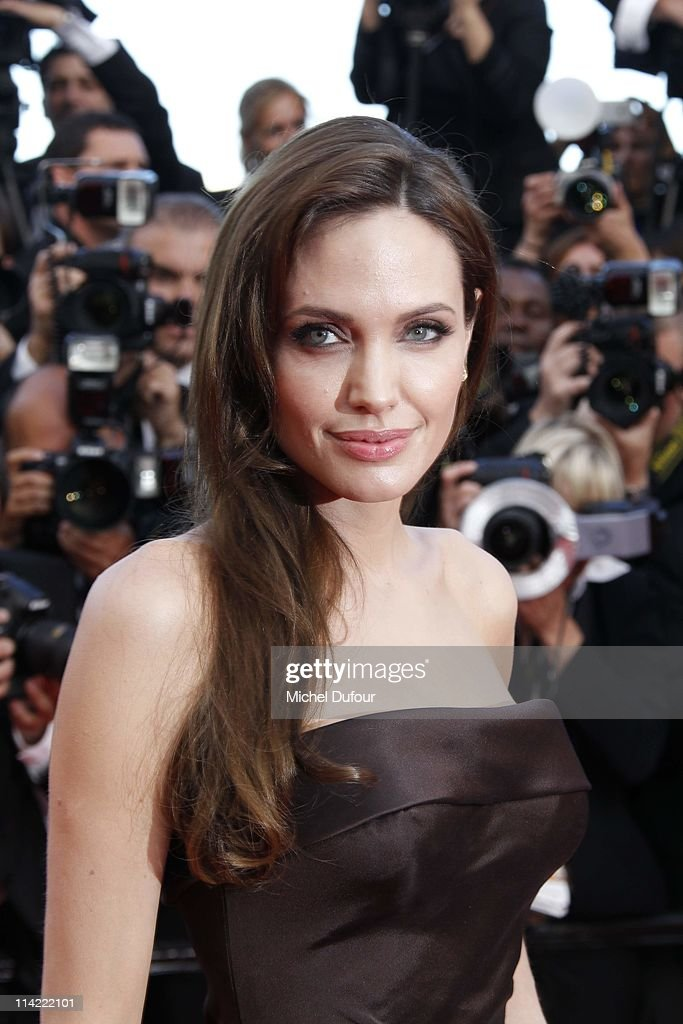 <a gi-track='captionPersonalityLinkClicked' href=/galleries/search?phrase=Angelina+Jolie&family=editorial&specificpeople=201591 ng-click='$event.stopPropagation()'>Angelina Jolie</a> attends 'The Tree Of Life' premiere during the 64th Annual Cannes Film Festival at Palais des Festivals on May 16, 2011 in Cannes, France.