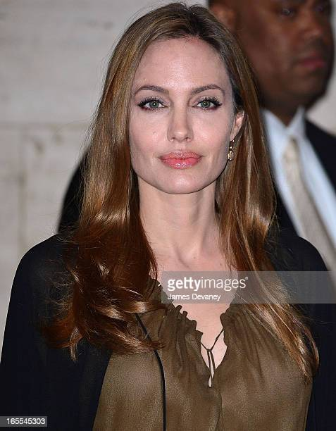Angelina Jolie attends Women in the World Summit 2013 on April 4 2013 in New York City