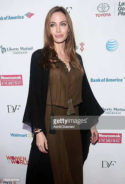 Angelina Jolie attends Women in the World Summit 2013 on April 4 2013 in New York United States