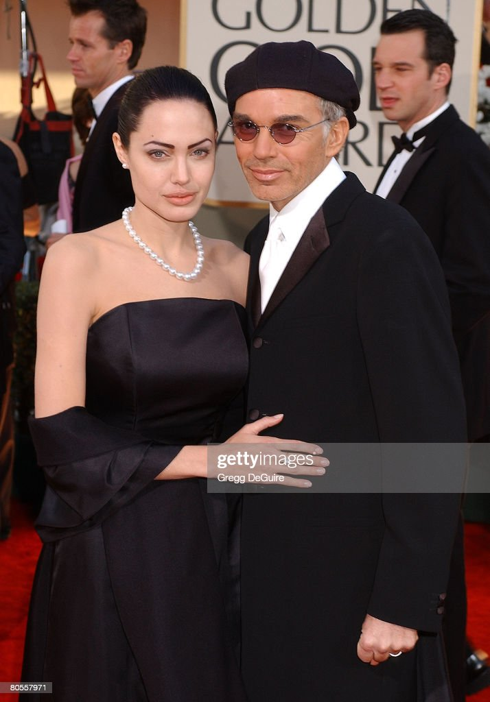 Angelina Jolie & Billy Bob Thornton arrive at the Golden Globe Awards at the Beverly Hilton January 20, 2002 in Beverly Hills, California.