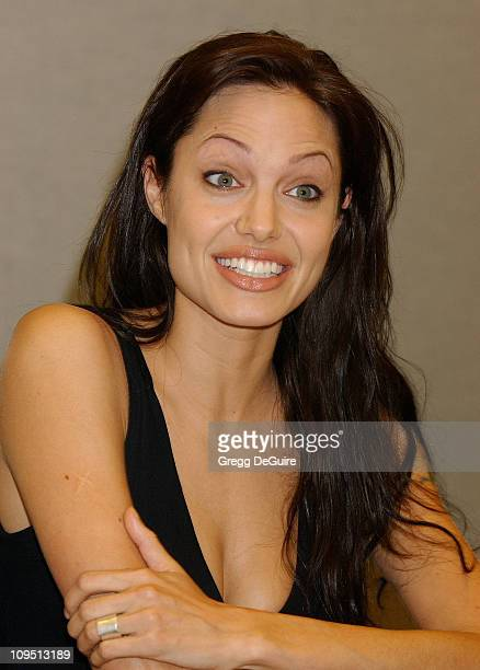 Angelina Jolie during 2003 San Diego ComicCon International at San Diego Convention Center in San Diego CA United States