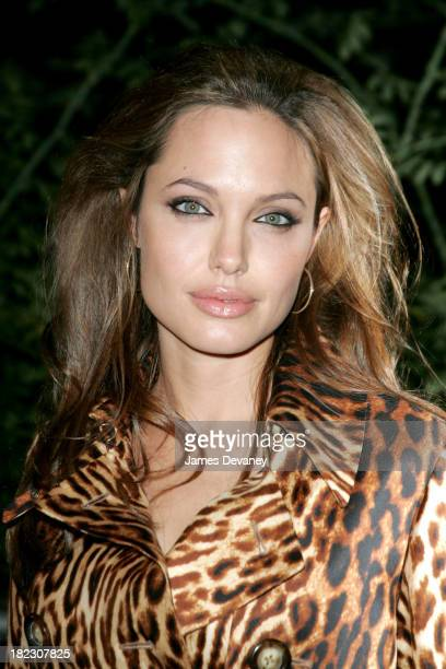 Angelina Jolie during Shark Tale New York Premiere Outside Arrivals at Delacorte Theatre Central Park in New York City New York United States
