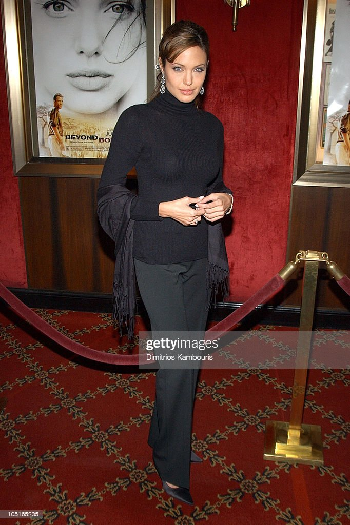 Angelina Jolie during World Premiere of 'Beyond Borders' Inside Arrivals at The Ziegfeld Theatre in New York City New York United States