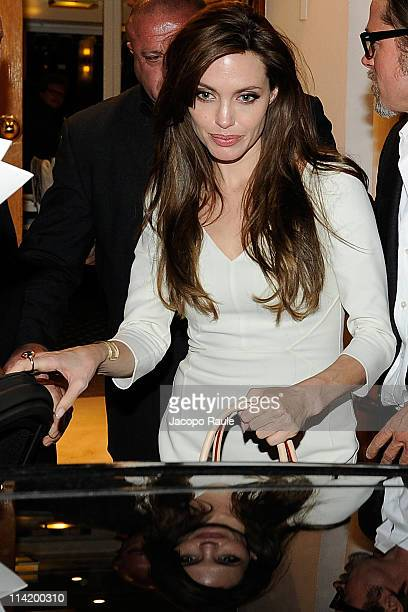 Angelina Jolie is seen leaving a restaurant during The 64th Annual Cannes Film Festival on May 15 2011 in Cannes France
