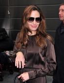 Angelina Jolie leaves the Mandarin Oriental Hotel on December 5 2011 in New York City