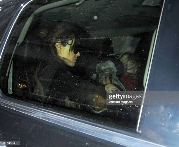 Angelina Jolie Maddox JoliePitt and Shiloh JoliePitt sighting on December 7 2010 in New York City