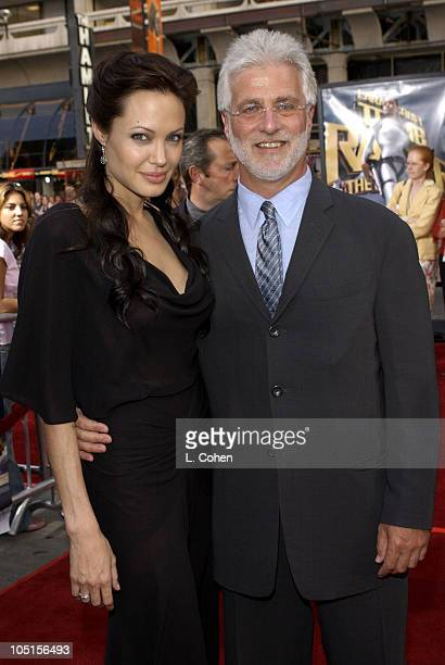 Angelina Jolie Paramount's Rob Friedman during World Premiere of 'Lara Croft Tomb Raider The Cradle of Life' Red Carpet at Chinese Theatre in...