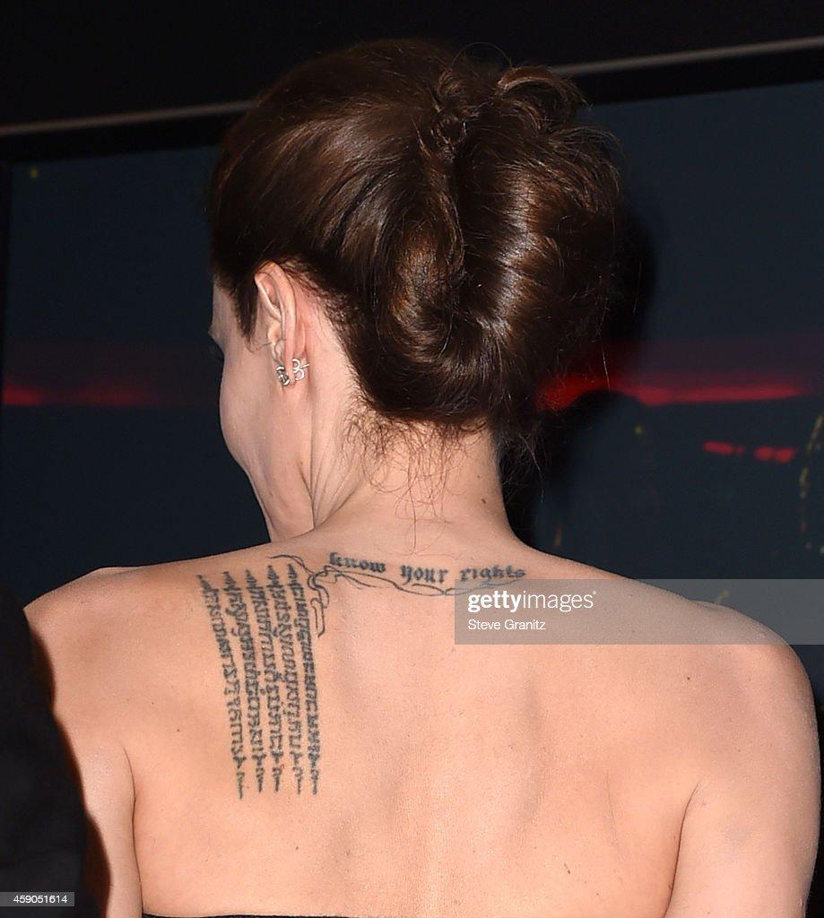 Angelina Jolie poses at the 18th Annual Hollywood Film Awards at the Hollywood Palladium on November 14 2014 in Hollywood California