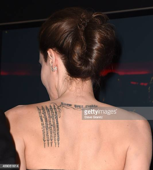 Angelina Jolie poses at the 18th Annual Hollywood Film Awards at the Hollywood Palladium on November 14 2014 in Hollywood California