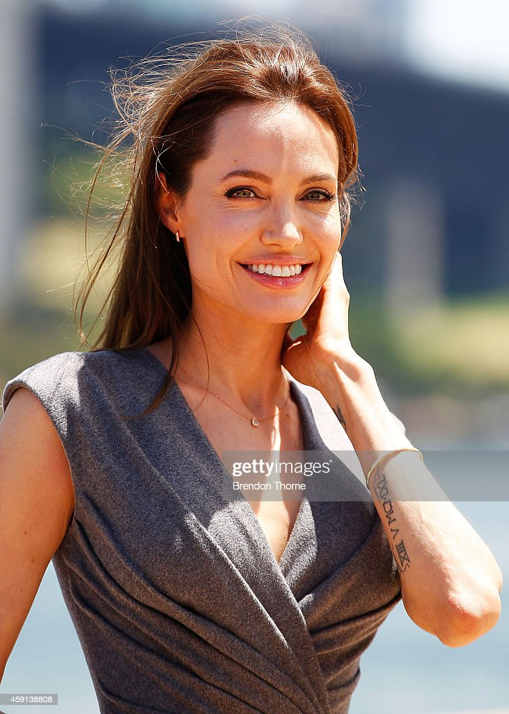 <a gi-track='captionPersonalityLinkClicked' href=/galleries/search?phrase=Angelina+Jolie&family=editorial&specificpeople=201591 ng-click='$event.stopPropagation()'>Angelina Jolie</a> poses at the photo call of Unbroken at Sydney Opera House on November 18, 2014 in Sydney, Australia.