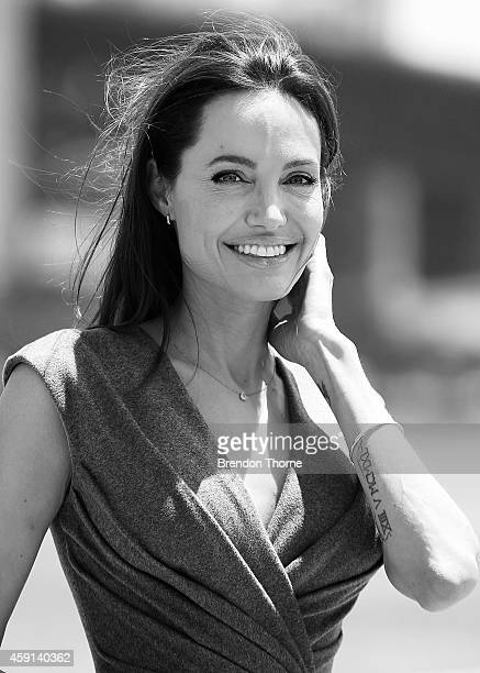 Angelina Jolie poses at the photo call of Unbroken at Sydney Opera House on November 18 2014 in Sydney Australia