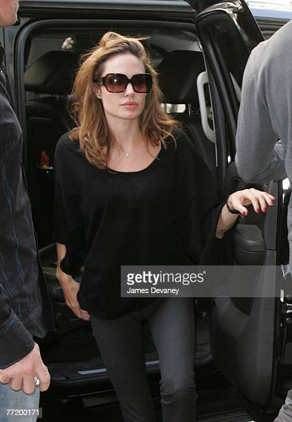 Angelina Jolie sighting in New York City on October 4 2007
