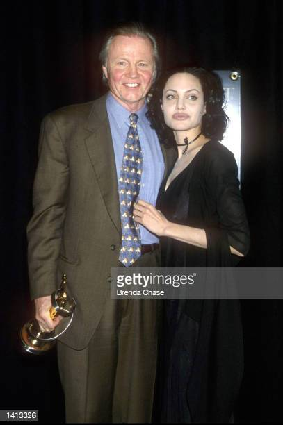 Angelina Jolie with her father Jon Voight March 10 at the ShoWest Awards 2000 in which she took the award for 'Supporting Actress of the Year' Las...