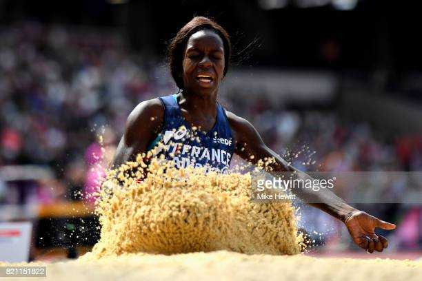 Angelina Lanza of France competes in the Womens long jump T47 final during day ten of the IPC World ParaAthletics Championships 2017 at London...