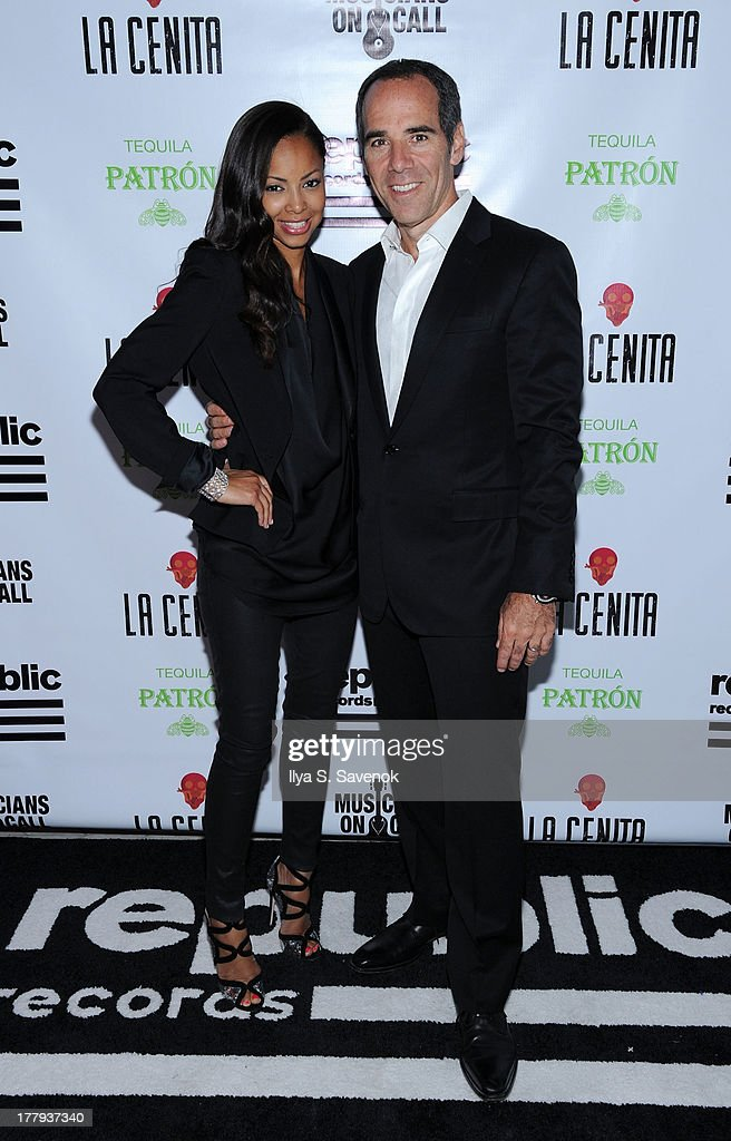 Angelina Lipman and Founder, Chairman and CEO of Republic Records, Monte Lipman attend Republic Records MTV VMA Viewing & After Party at La Cenita on August 25, 2013 in New York City.