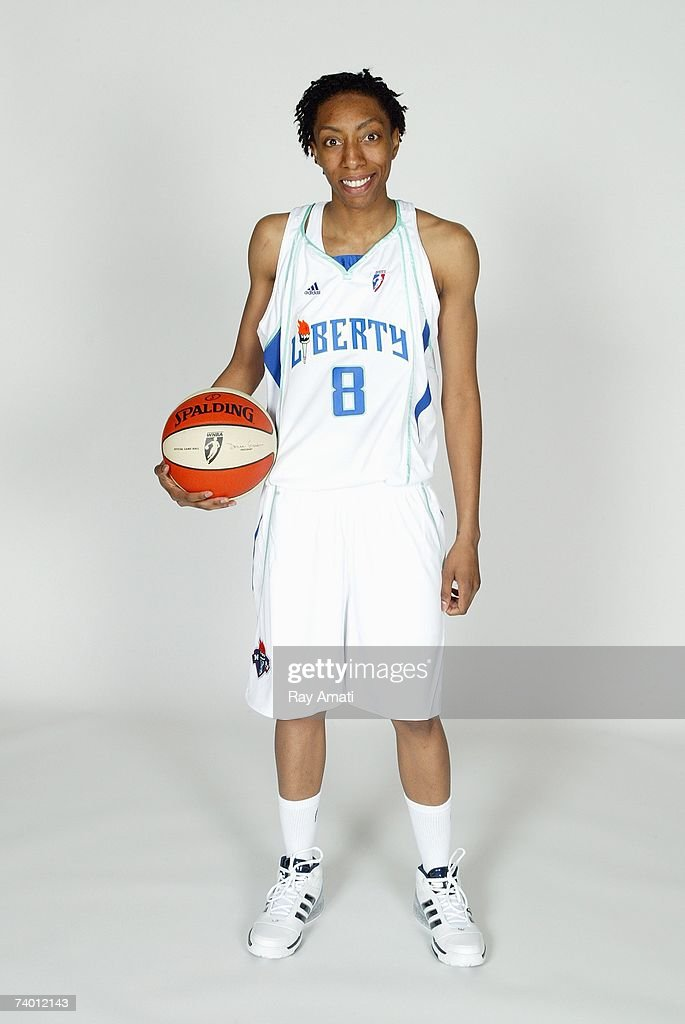Angelina Williams of the New York Liberty poses for a portrait on WNBA Media Day on April 23 2007 in New York New York NOTE TO USER User expressly...