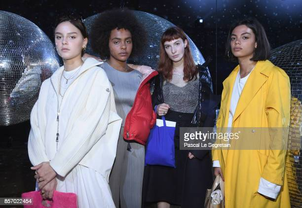 Angelina Woreth Crystal Murray Thais Klapisch and Annabelle Ferrara attend the Moncler Gamme Rouge show as part of the Paris Fashion Week Womenswear...
